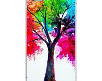 Watercolor Tree iPhone Case Various Sizes