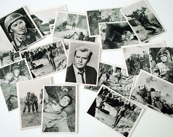 Combat Trading Cards, 1963 TV Show Cards, Military Collectibles, Selmur Productions, 37 Series I WWII Cards, Vintage Ephemera Supplies