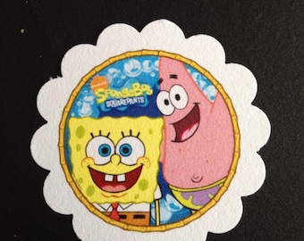SpongeBob Squarepants & Patrick Treat Tags - you pick quantity