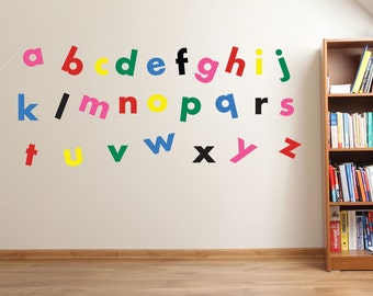 A To Z Alphabet Wall Stickers Kids Nursery Play Room Home Art Decoration  Childrenu0027s Decals Removable