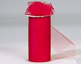 """6 inch x 100 yds """"Import"""" Nylon Tulle Roll - Fall Special  only 5.99 a roll"""
