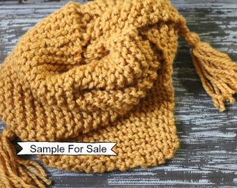 Knit Triangle Scarf, Triangle Tassel Scarf, Knitted Scarf, Triangle Scarf, Shawl Triangle, Knit Scarf, Triangle Shawl Scarf, Knit Scarf