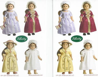 American Girl FELICITY MINI STICKERS - 2 sheets / Meet - Tea Lesson - Christmas - Nightgown and Cap Outfits / Scrapbooking