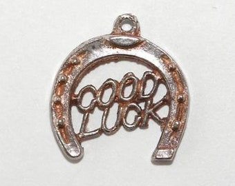 Vintage Good Luck Horseshoe Sterling Silver Charm / Pendant (1.4g)