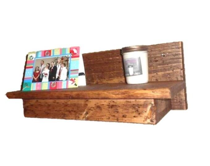 """19"""" Wooden Wall Shelf Hidden Compartment"""