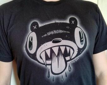 Bear Organic Black Shirt, Mens American Apparel