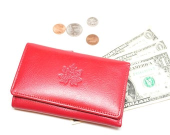women leather wallet, leather wallet clutch,  women wallet, leather women purse, billfold wallet, wallet with coin pocket, Pink wallet