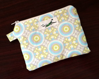 """7""""x5"""" Tab-Handled Wetbag ~ Fresco Cotton with PUL Lining ~ by Talulah Bean"""