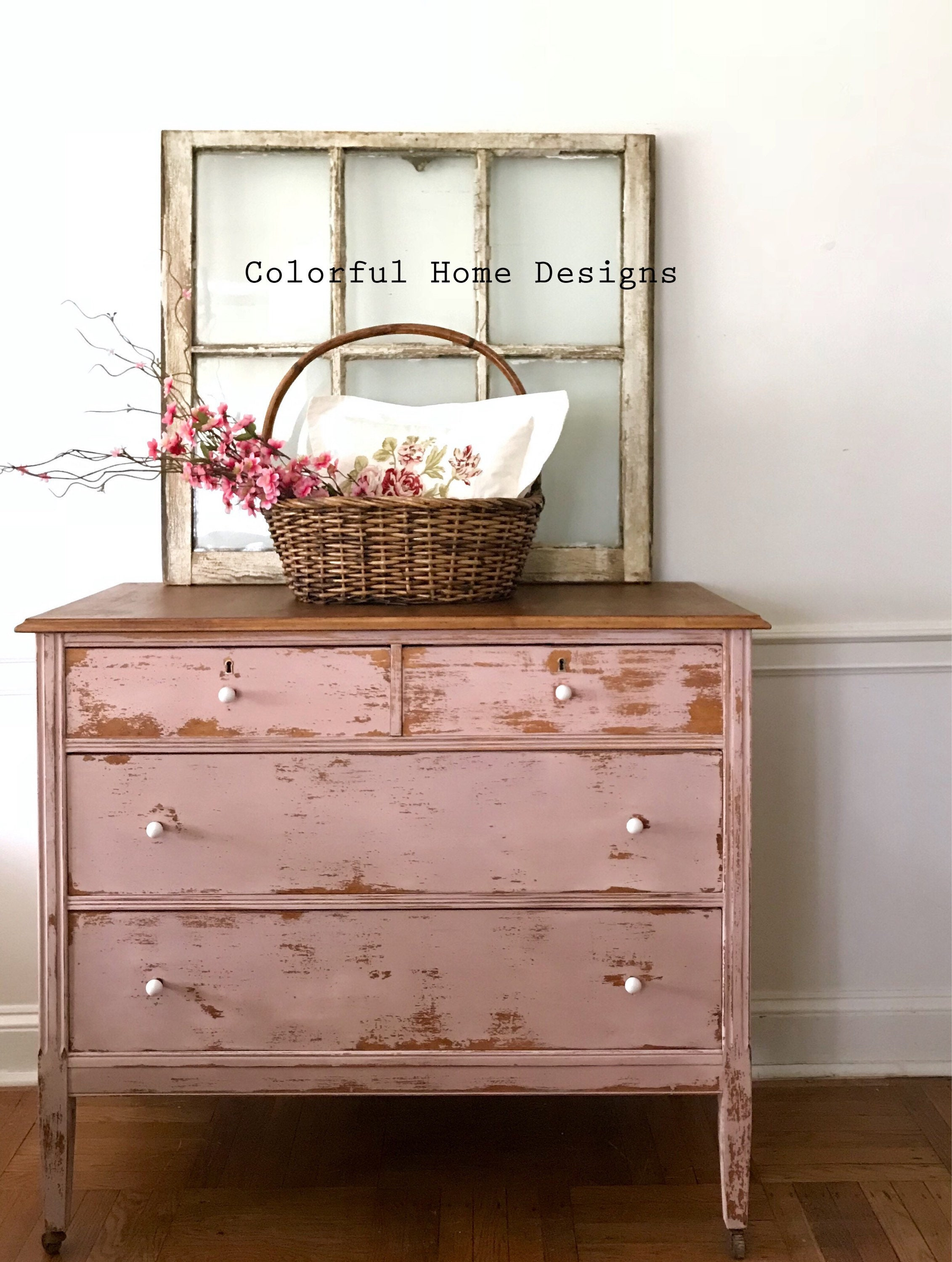 pink shabby chic furniture. SOLD No Longer Available Vintage Dresser, Painted Farmhouse Shabby Chic Pink Dresset, Cottage Style Pi Furniture