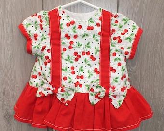 0-3 Months Cherry print bodysuit