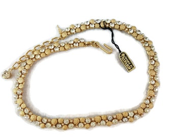 TRIFARI, Trifari Necklace, NOS, Trifari Jewelry, Gold Trifari Jewelry, Rhinestone Necklace, Necklaces, Jewels By Trifari, Gifts for Women