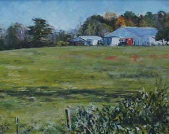 Original Landscape Oil Painting - North Georgia Farm