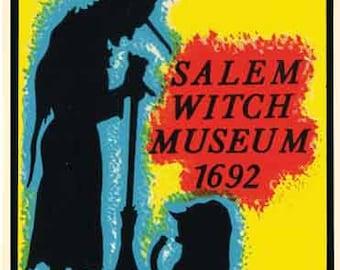 Vintage Style Salem Witch Museum  Massachusetts  Travel Decal sticker