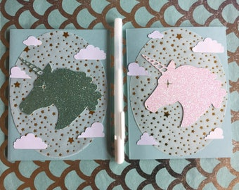 Unicorn Silhouette Cards