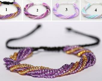 Beaded bracelet Multi Strand bracelet Bead bracelet for mother Adjustable bracelet Beaded jewelry Girlfriend gift for Womens gift|for|her