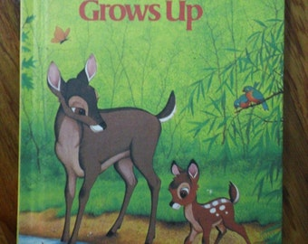 Bambi Grows Up - Disney's Wonderful World of Reading vintage 1979 hardcover book