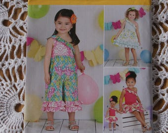 """New Simplicity Sarah Rose  Fashions  8144 A Size 1/2 to 4  also 18"""" doll Dress Pattern"""