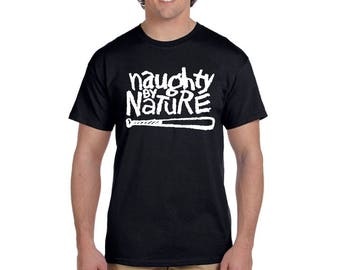 Naughty By Nature T Shirt RUN DMC 2PAC East Coast Rappers Tees