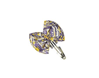 BOW handmade Liberty hairclip - Marble