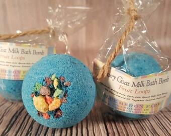 Fruit Loops Small Bath Bomb, Bath Bombs for Kids, Blue Bath Bomb, Bath Bom, Stocking Stuffer
