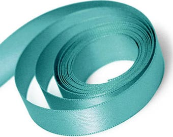 Jade Satin Ribbon available in 2 ribbon widths 15mm, 23mm