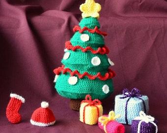 Christmas Tree Crochet Pattern, Gifts Crochet Pattern, Amigurumi Christmas Tree Pattern, Amigurumi Presents, Christmas Crochet Pattern