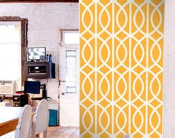 Stick On Wallpaper, Circle Wallpaper, Yellow Removable Wallpaper, Vinyl Wall Decals Pattern, Geometric Print Removable Wallpaper, C020