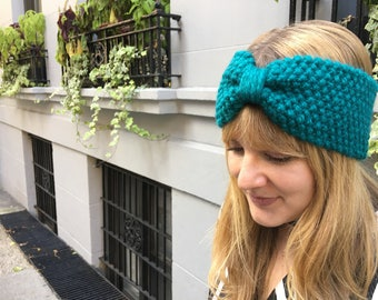 Hand-knit Headband - Earwarmer - Hairwrap - Gifts for Her - Teal