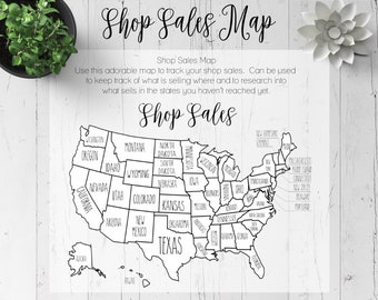 Shop Sales Map