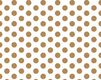 """Metallic Gold Polka Dot Print Tissue Paper 240 sheets 100% Recycled 20"""" x 30"""" Packaging Gift Wrap"""