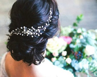 SARAH - Pearl Wedding Bridal Hair Comb