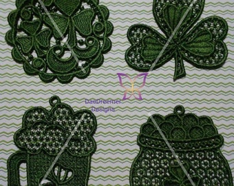 Lace St Patty's Day ornaments