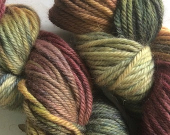 You Can't Find Me Indie dyed Bulky Weight Yarn Camo Camouflage Wool Alpaca