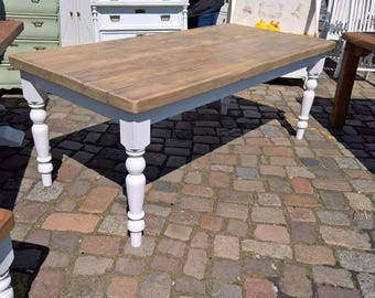 Country style dining table lovingly handmade solid wood / softwood robust