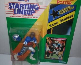 1992 Kenner Barry Sanders Starting Line Up action figure sealed