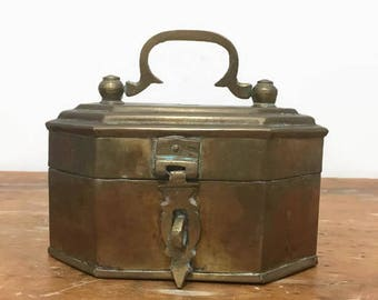 Vintage Brass Cricket Box for Trinkets, Jewelry, Air Plants, More