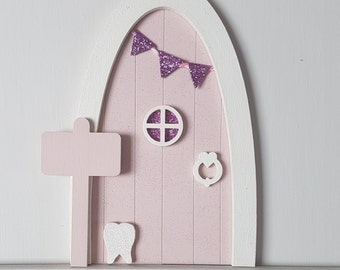 Personalised, Sparkling Pink Tooth Fairy door, Magical Imaginative Play, Gifts for Girls
