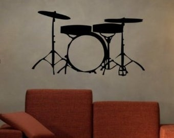 Drum SET Version 102 Wall Mural Decal Sticker Music : table drum set - pezcame.com