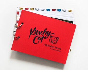 Kitschy Cat Alphabet Book: baby shower gift; alphabet book; send postcards to a young child; make memories with retro Kitschy Cat!