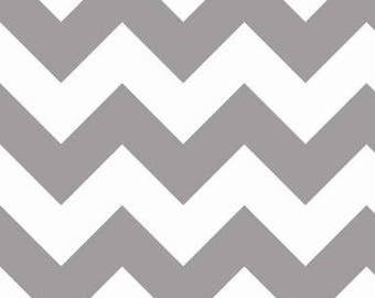 40% OFF SALE!  Chevron Large - Grey Taupe - Riley Blake