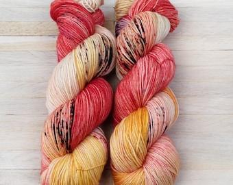 Hand Dyed Sock Yarn Superwash Merino - Yarntoyou  - PURE MERINO - Juice Beer