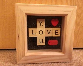 Love You Scrabble Frame