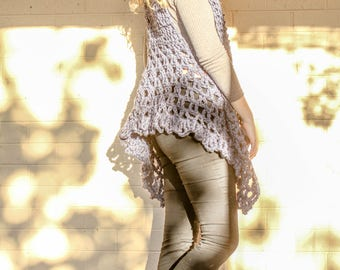 Crochet Vest Pattern – Luxurious Layers Collection – Crochet Vest – Chunky Yarn - Crochet Pattern - Boho Vest