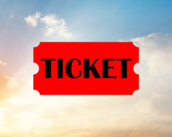 Ticket Svg Cut File- Use for Circus Party or Movie Party