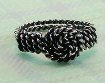 Sterling Silver Twisted Wire Ring - Any size