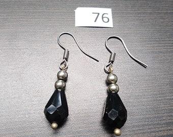 Dark Blue Raindrop Earrings