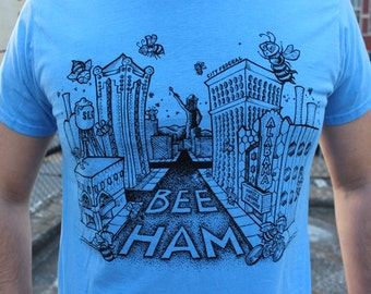 Large- The Buzz About Bee-Ham: Blue