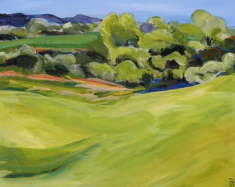 Landscape, Summer Field 10x10. giclee print