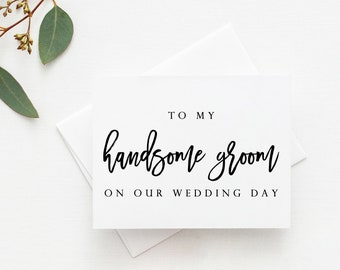 To My Handsome Groom Card. Wedding Day Card Groom. Card For Groom. To My Groom Card. Groom Card For Wedding Day. Groom Wedding Card.
