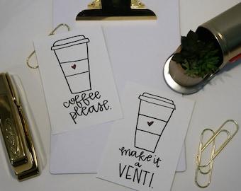 Coffee Please - Chai Please - Iced Chai - Iced Latte - Coffee Before Talkie - Make it a Venti